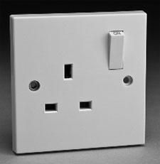 a image of a manins electricity socket