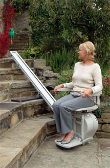 an outdoor stairlift
