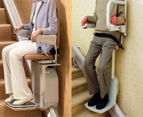 Image accompanying the link to the types of stairlift menu.