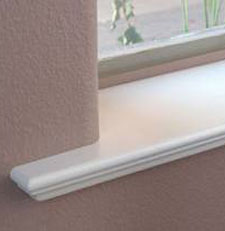 a image of a window sill